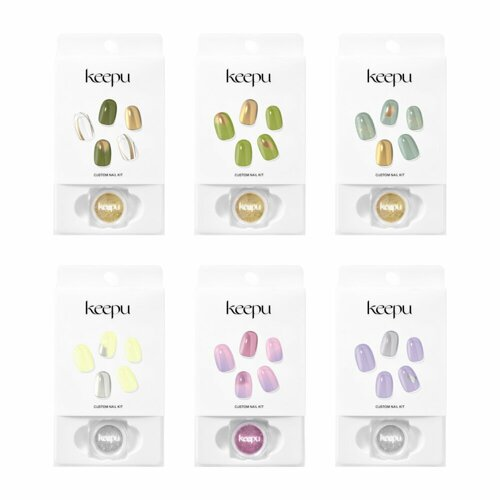 Keepu Custom Nail Kit Mirror Powder 12 Types (NO LED Lamp required)