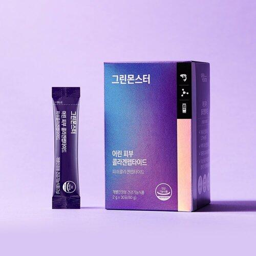 GREEN MONSTER Youthful Skin Collagen Peptide 30 Sticks (15-day supply)