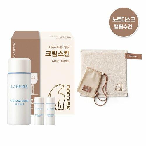 LANEIGE Cream Skin Refiner 250mL x NORDISK Camping Towel Special Set