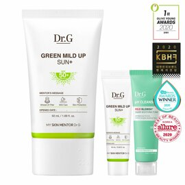 Dr.G Green Mild Up Sun+ Special Set SPF50 + 2021 NEW (50ml + 10ml + Soothing Foam 10ml)