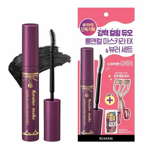 HEROINE MAKE Long and Curl Mascara EX + Eyelash Curler Set (2105)