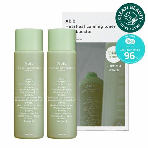 Abib Heartleaf Calming Toner Skin Booster Double Set